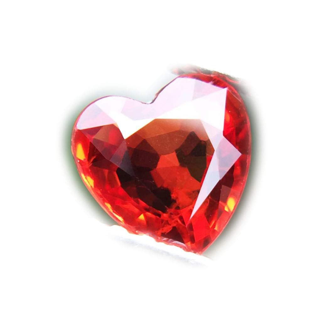 Lovemom 0.65ct Natural Heart Orange Sapphire Songea Tanzania #R
