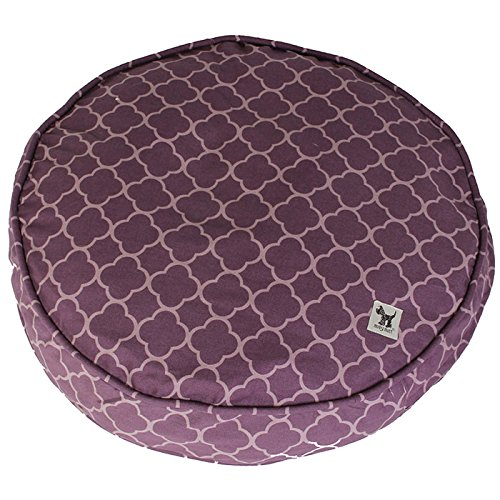 (Molly Mutt Royals Petite Round Dog Bed Duvet, Small, Purple - 100% Cotton, Durable, Washable)