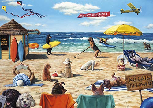 Buffalo Games - Dog Days of Summer - 500 Piece Jigsaw Puzzle, Multi