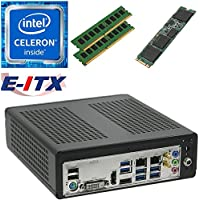 E-ITX ITX350 Asrock H270M-ITX-AC Intel Celeron G3930 (Kaby Lake) Mini-ITX System , 32GB Dual Channel DDR4, 480GB M.2 SSD, WiFi, Bluetooth, Pre-Assembled and Tested by E-ITX