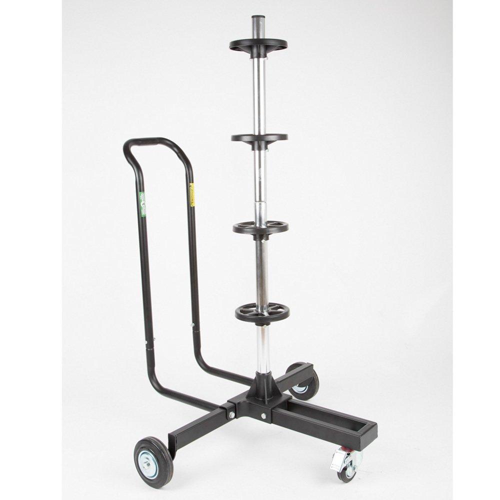 Monteavena MAV706003 - Porta pneumatici con rotelle, manico con doppia impugatura e ruota anteriore piroettante