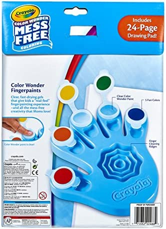 Crayola Color Wonder Mess Free Fingerpaints And Paper Art Tools Paint Paper Great For Travel