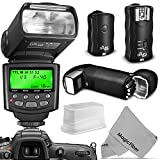 Photo : Altura Photo Professional Flash Kit for Canon DSLR with E-TTL Flash AP-C1001, Wireless Flash Trigger Set and Accessories