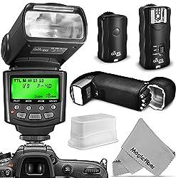 Altura Photo Professional Flash Kit For Canon Dslr With E-ttl Flash Ap-c1001, Wireless Flash Trigger Set & Accessories