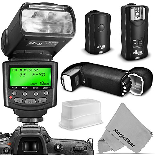 Altura Photo Professional Flash Kit for Canon DSLR with E-TTL Flash AP-C1001, Wireless Flash Trigger Set and Accessories from Altura Photo