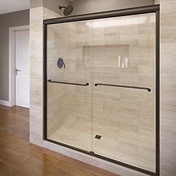Celesta Semi Frameless Sliding Shower Door Fits 56 60