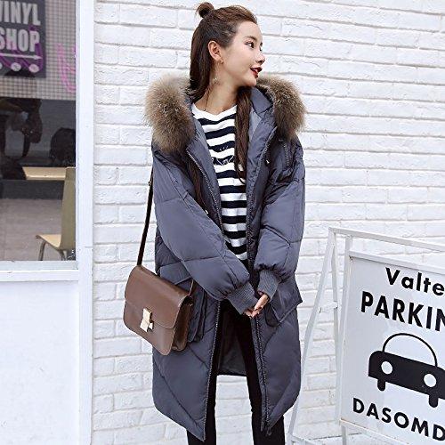 Xuanku Winter Damen Unten Baumwolle Kleid Frauen Lange Hoher Kragen Baumwolle Mantel Jacke