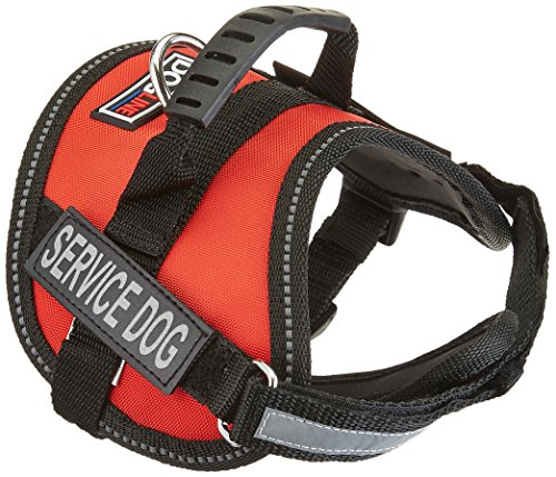 Dogline Unimax Service Dog Vest and Free Service Dog ID Badge with ADA Law, X-Small, (Chest Plate Harness)