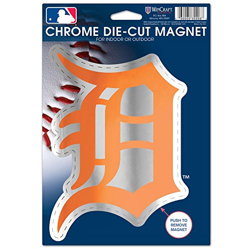 WinCraft MLB Detroit Tigers Logo Chrome Magnet, 6.25