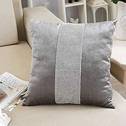 Sequin Pillow Case Elegant With Rhinestone
