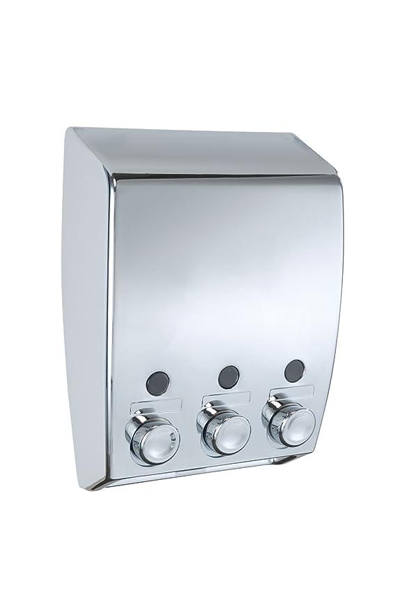 73 opinioni per Wenko 18403100 Dispenser sapone a triplo erogatore Varese Bianco Cromo- 3