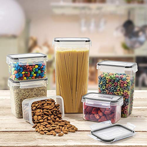 Wildone Airtight Food Storage Containers - BPA Free Cereal & Dry Food Storage Containers Set of 23 for Sugar, Flour, Snack, Baking Supplies, with Free Chalkboard Labels & Marker Pen