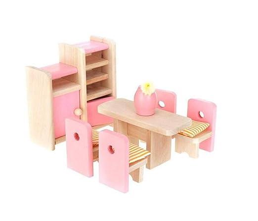 Desconocido Juguete de la Sala de Estudio, Muebles de Madera Casa de muñecas Juegos de Habitaciones para niños en Miniatura para niños Regalo para ...