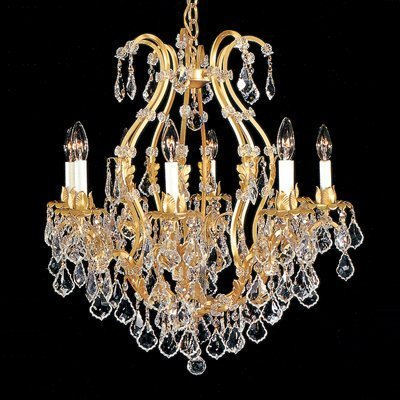 Weinstock Lighting 483034-8GP 8-Light Versailles Antique Reproduction  Chandelier with French Pendeloque Trimming - Weinstock Lighting 483034-8GP 8-Light Versailles Antique
