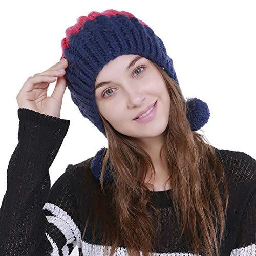 PIKAqiu33 Women's Fashion Beanie Winter Hat Knit Wool
