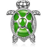 NINAQUEEN Wise Tortoise 925 Sterling Silver Green Enamel Happy Family Animal Bead Charm for Pandöra Charms Bracelets Necklace Christmas Birthday Gifts for Women Teen Girls Kids Mom Daughter Niece