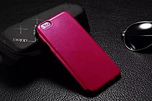 Soft PU Leather Silicone Dual Layer Case for the Apple iPhone 6 4.7inch (Hot Pink)