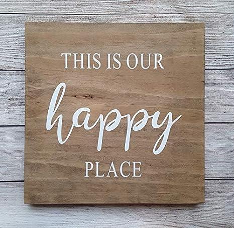 Amazon.com: Vontuxe This is Our Happy Place - Cartel de ...