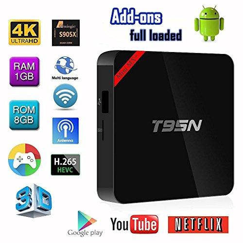 T95N Mini Mx Pro Tv Box Amlogic S905X Quad Core Android 6 0 1G/8G/4K Fully  Loaded HD 3D WIFI Streaming Media Player DLNA Mira