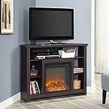 "Walker Edison W44FPHBCES 44"" Wood Corner Highboy Fireplace TV Stand -"