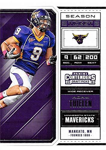 online store 5051b e7ee1 Adam Thielen football card (Minnesota State Mavericks) 2018 ...