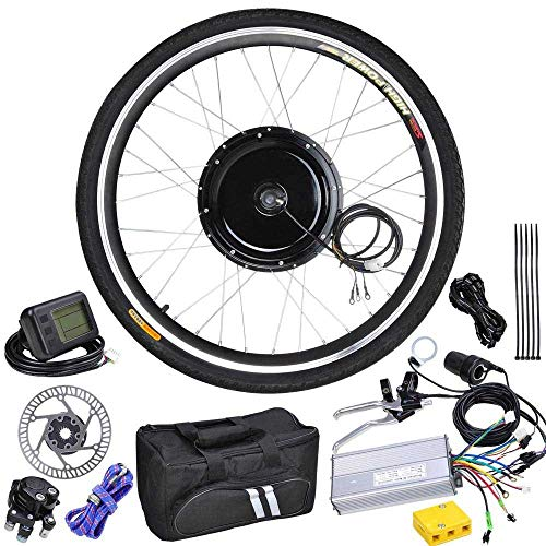48 Volt 1000 Watt 26 Inch Electric Bicycle Conversion Motor Kit LCD Front Wheel
