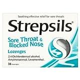 Strepsils Sore Throat & Blocked Nose 36 Lozenges
