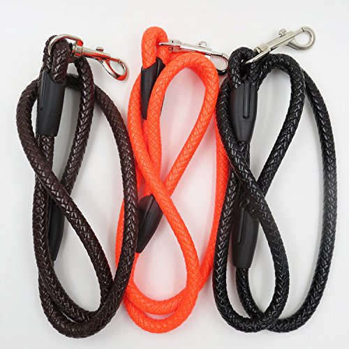 Dog Leash Dog Harness Braided Leather Dog Leash