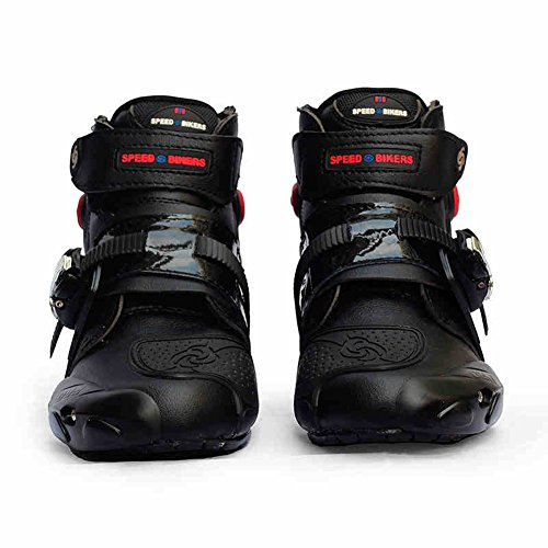 Chitone Motorcycle Boots Men Racing Black (US 9) by Chitone
