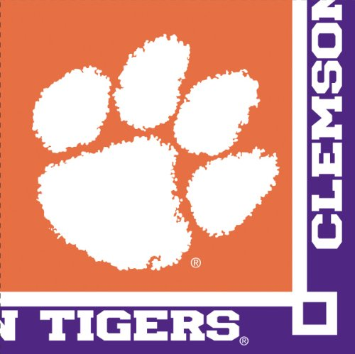 Creative Converting Clemson Tigers Beverage Napkins, 20-Count (Colleges For Costume Designers)