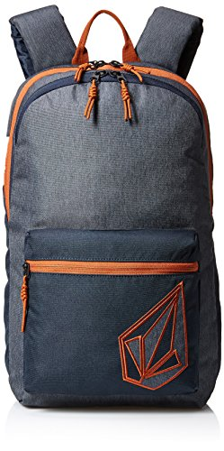 Backpack Volcom Embroidered - Volcom Unisex Academy Backpack, Navy, One Size