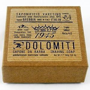 Saponificio Varesino Dolomiti Deluxe Hart Rasierseife 150g Puck