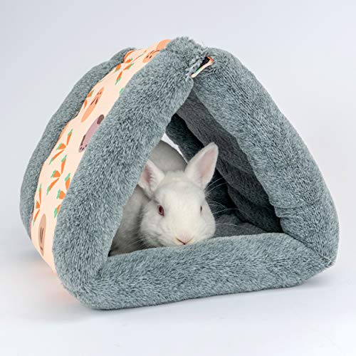 Niteangel Foldable Guinea Pig Tent Bed & Warm Tunnel for Rabbit Ferret Chinchilla Bunny Rats or Other Small Animals