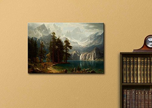 Sierra Nevada in California by Albert Bierstadt Stretched Framed 16 W x 24 L