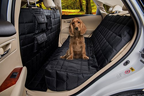 Homeyone Total Coverage Waterproof Dog Pet Travel Back Seat Cover Pad (Black)