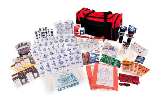 4 Person Survival Kit Deluxe – Prepare For Earthquake, Evacuation, Emergency Disaster Preparedness 72-Hour Kits for Home, Work, or Auto