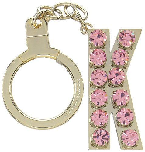 kate spade new york Key Fobs Jeweled K Initial, Pink