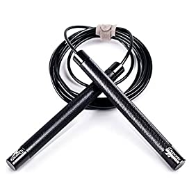 iDeporte Jump Rope with Germany Imported Ball Bearing, Adjustable Skipping Rope for Boxing, MMA Training, Jumping Workout, CrossFit Training, Survival