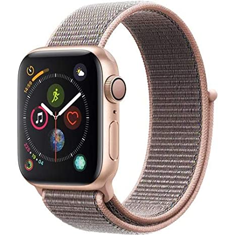 buy popular 7177a ff8af Apple Watch Series 4 (GPS, 40mm) - Gold Aluminium Case with Pink Sand Sport  Loop