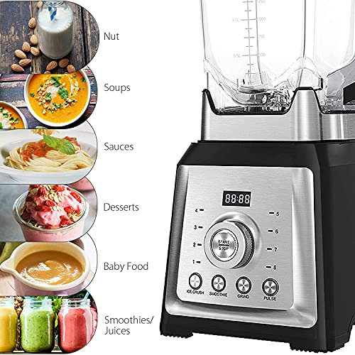 Blenders for kitchen, 1450W Professional Countertop Blender with 68 oz Tritan Pitcher and 8 Adjustable Speeds, Smoothie Blender Maker for Shakes, Crushing Ice and Frozen Fruits