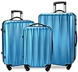 BIXIDRAGON Luggage Set 3 Pcs PC+ABS Light Weight Suitcace With TSA Lock