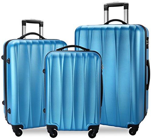 BIXIDRAGON Luggage Set 3 Pcs PC+ABS Light Weight Suitcace With TSA Lock by BIXIDRAGON