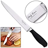 Latest Carving Knife - Lifetime Replacement Warranty - Best Rated 7.5 Inch Blade - Non Slip Ergonomic Handle - No-Stain Stainless Steel - Carve Your Thanksgiving Turkey Like A Professional Chef