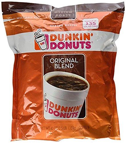 Dunkin Donuts Original Blend Medium Roast Ground Coffee, 40 Ounce (2 packs) by Dunkin' Donuts