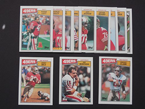 San Francisco 49ers 1987 Topps Football Team Set** Dwaine Board, Dwight Clark, Roger Craig, Joe Cribbs, Don Griffin, Charles Haley, Tom Holmoe, Ronnie Lott, Tim McKyer, Joe Montana, Jerry Rice, Max Runager, Jeff Stover and Ray Wersching**