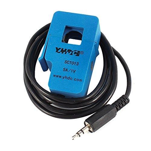 eDealMax SCT-013-005 1M DE 3,5 mm de câble de Sortie ouvrants Transformateur de courant 5A 1V