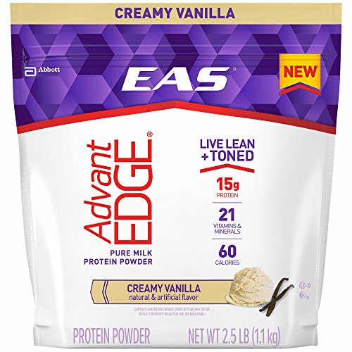 EAS AdvantEDGE Protein Powder, Vanilla, 2.5 lbs. (pack of 6) by EAS