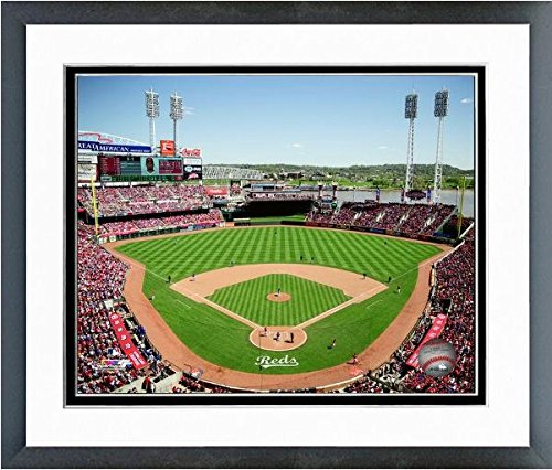 "Cincinnati Reds Great American Ballpark 2015 MLB Stadium Photo (Size: 12.5"" x 15.5"") Framed"
