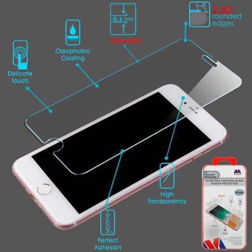 Mybat Screen - iPhone 6/6s/7/8 Screen Protector, Mybat 0.1mm Clear Tempered Glass LCD Screen Protector Shield Guard Film for Apple iPhone 6/6s/7/8