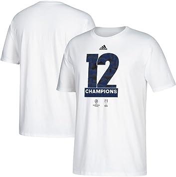 Adidas Real Madrid 2017 UEFA Champions League Champs Blanco Camiseta: Amazon.es: Deportes y aire libre